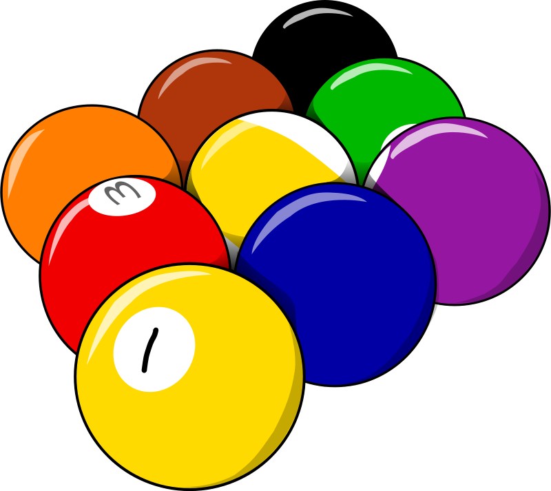 Free Clipart 9 Balls
