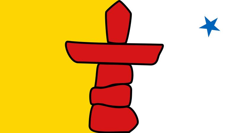 Free Flag of Nunavut, Canada