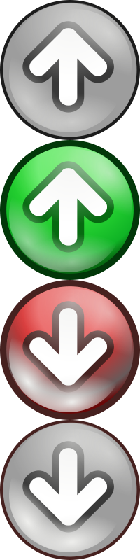 Free Shiny green/red voting arrows