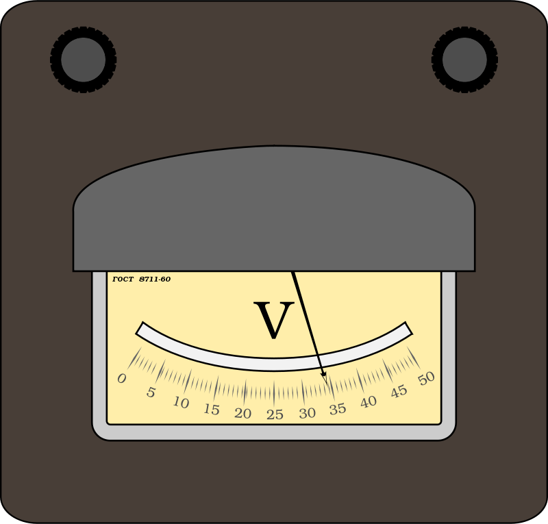 Free Clipart: Voltmeter | boobaloo