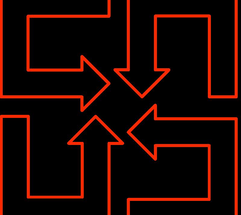 Free U-shaped arrow set 02