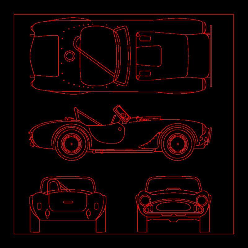 Free Shelby Cobra blueprint