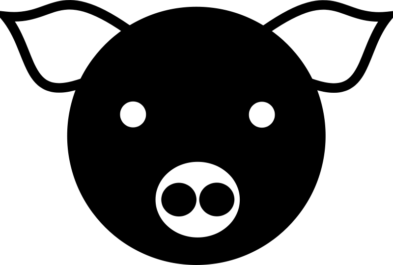 Pig simple. Free clipart anonymous