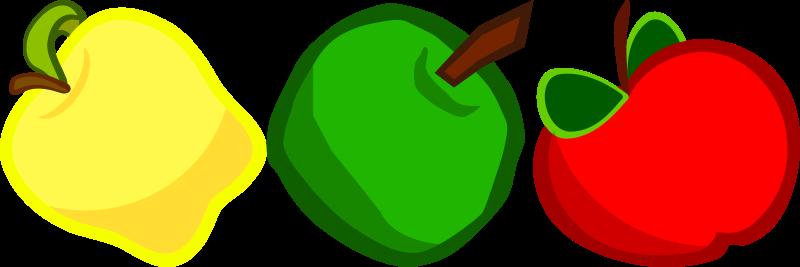 Free Three Cartoony Apples