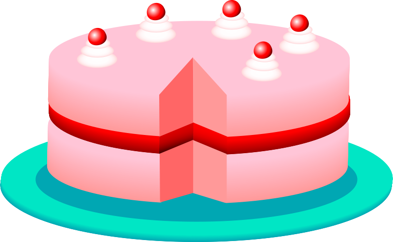 Free Clipart: Pink cake | Anonymous