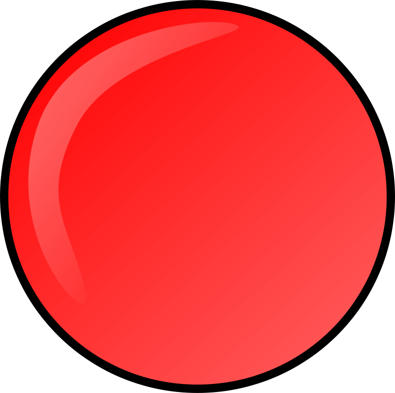 Free Clipart: Red round button | Anonymous