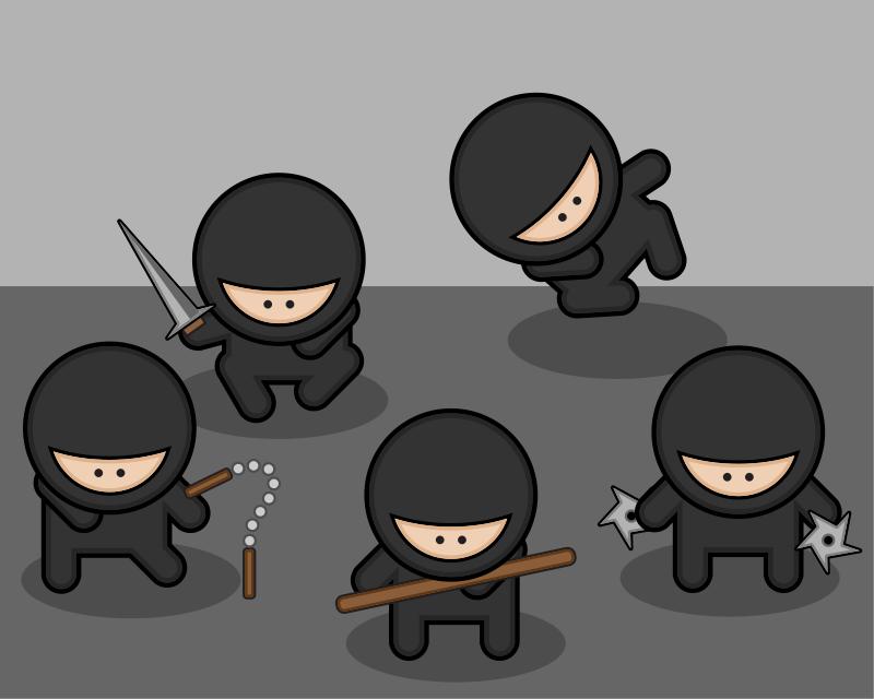 Free Cartoon ninjas
