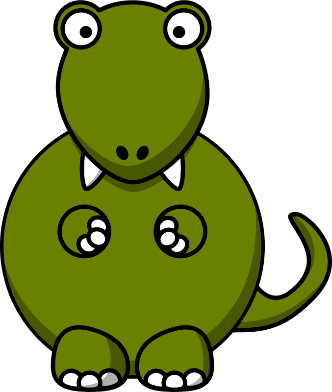 Free Cartoon tyrannosaurus rex