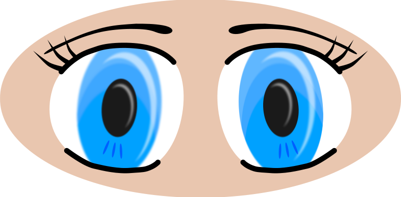Free Clipart: Anime Eyes | adam_lowe