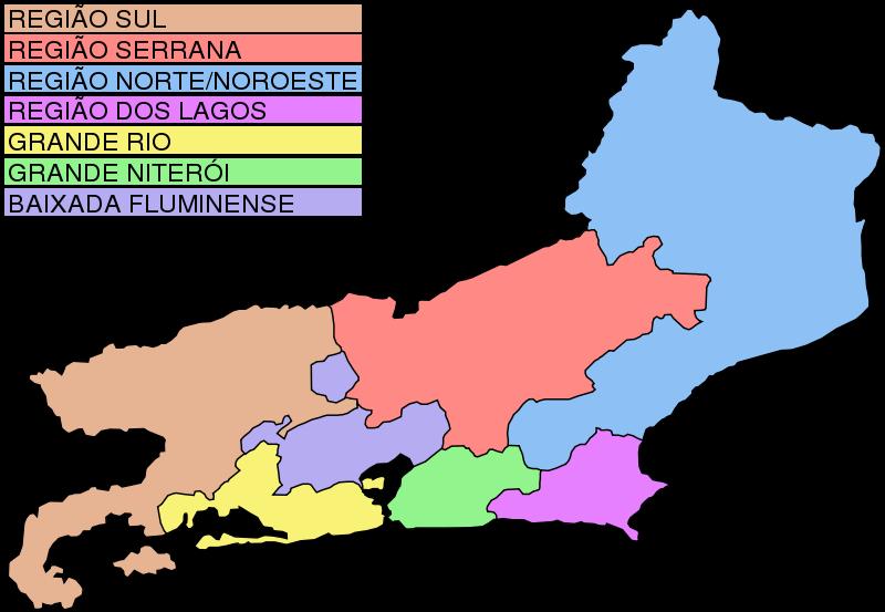Free Clipart: Map of Rio de Janeiro | laobc
