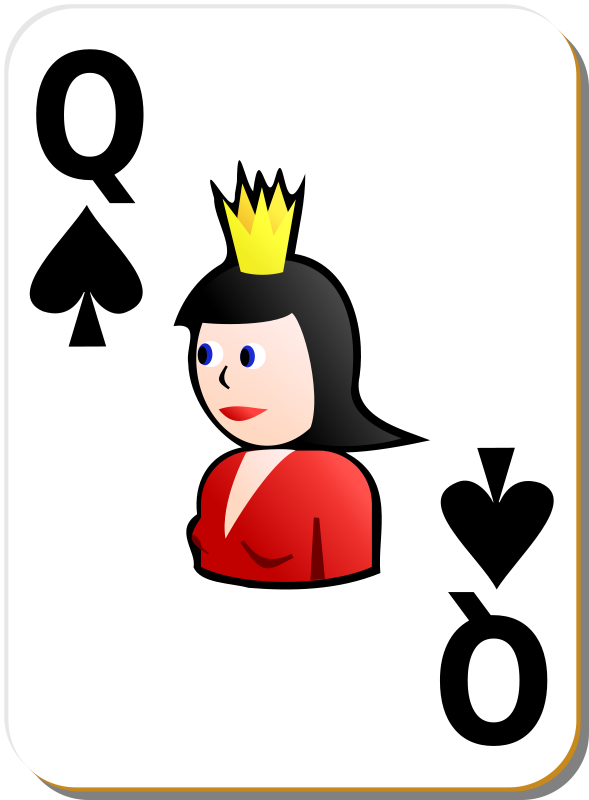 Free White deck: Queen of spades