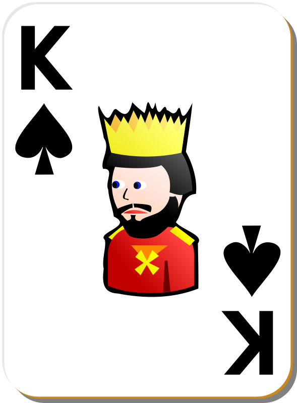 Free White deck: King of spades
