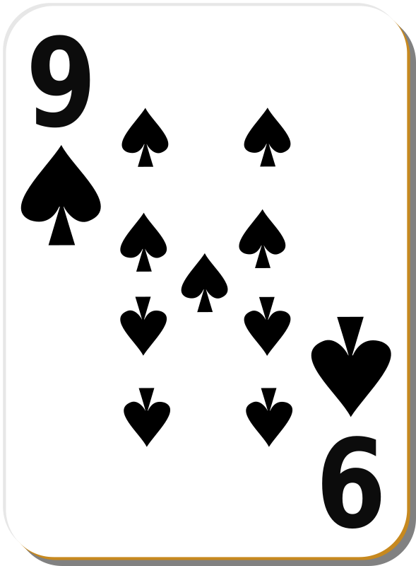 Free White deck: 9 of spades