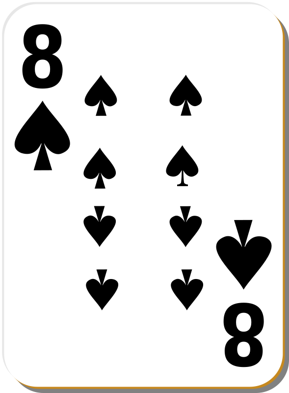 Free White deck: 8 of spades