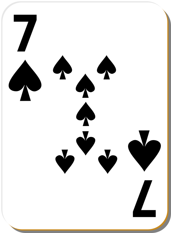 Free White deck: 7 of spades