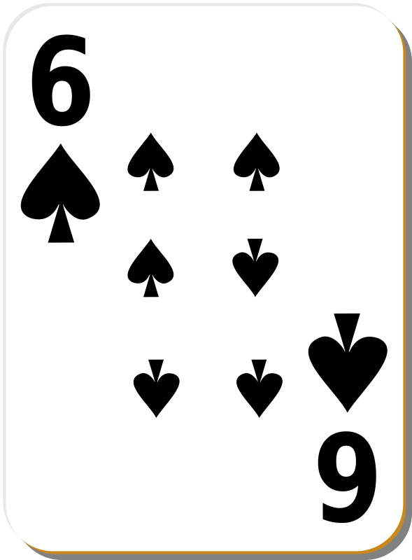 Free White deck: 6 of spades