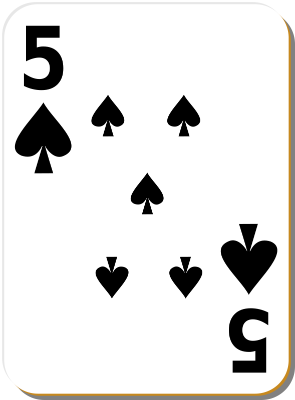 Free White deck: 5 of spades