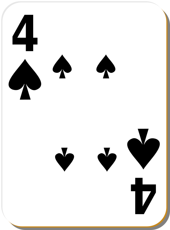 Free White deck: 4 of spades
