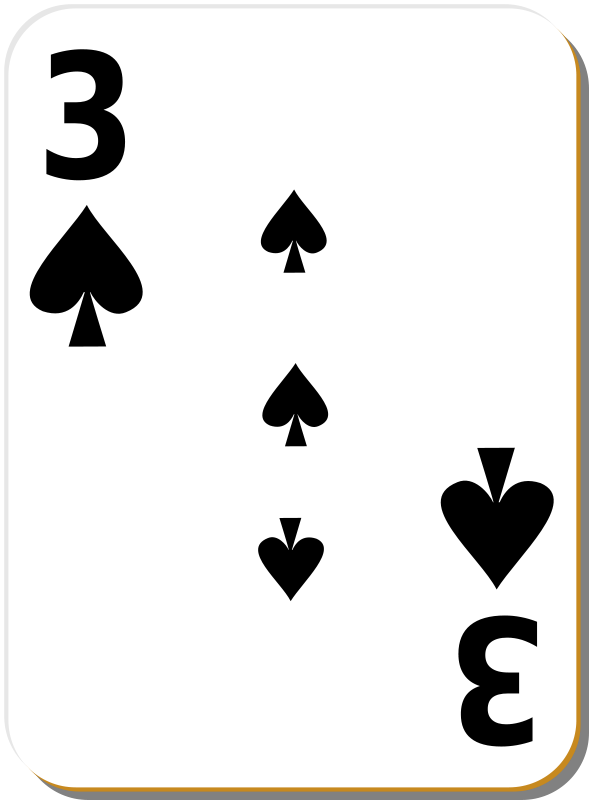 Free White deck: 3 of spades
