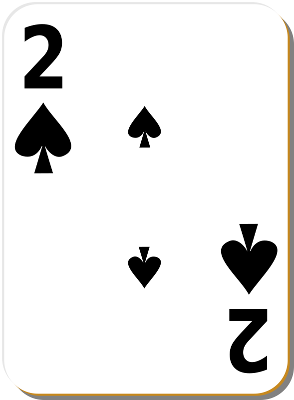 Free White deck: 2 of spades