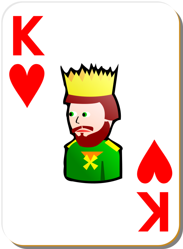 Free White deck: King of hearts