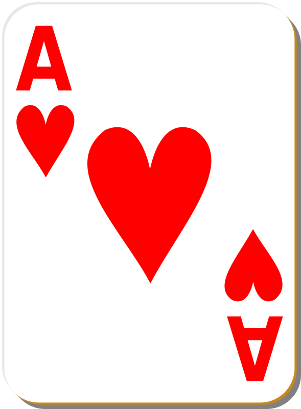 Free White deck: Ace of hearts