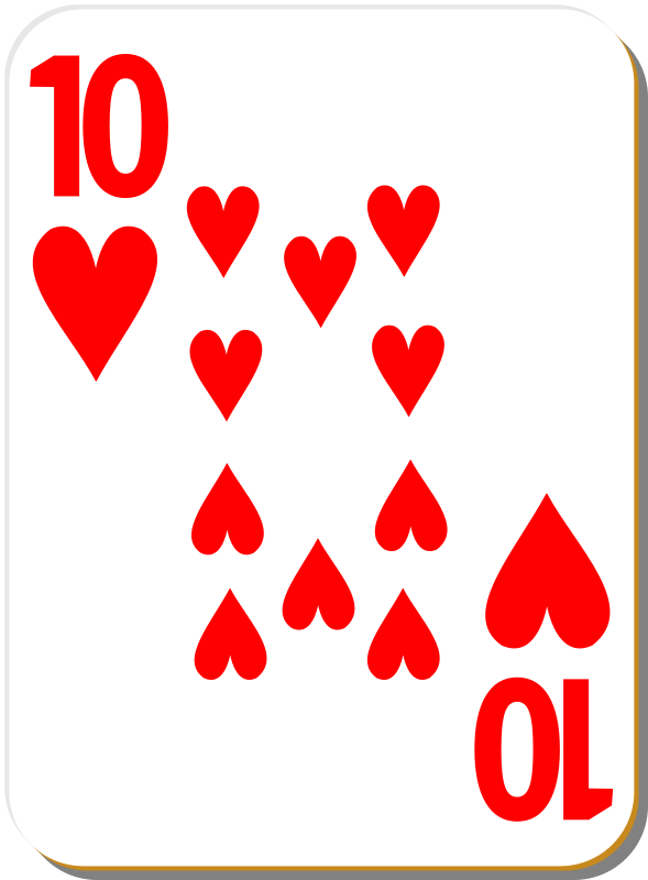 Free White deck: 10 of hearts