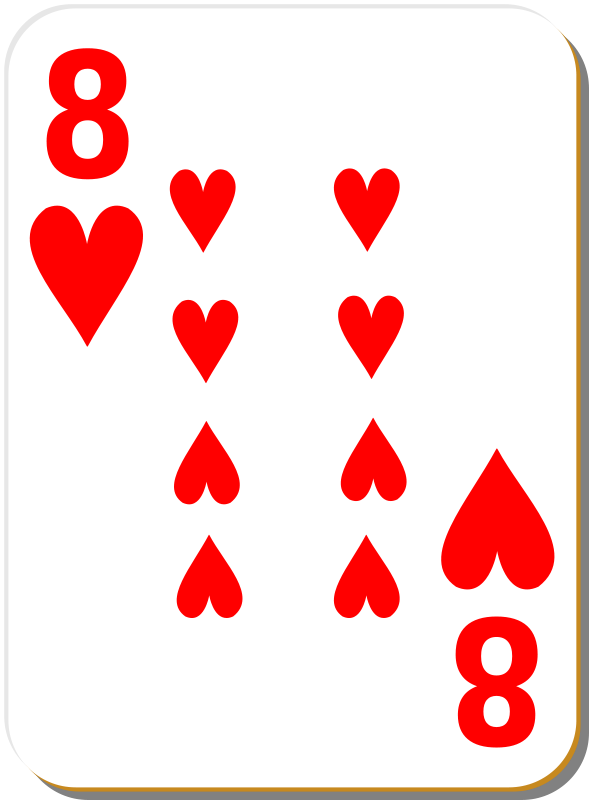 Free White deck: 8 of hearts