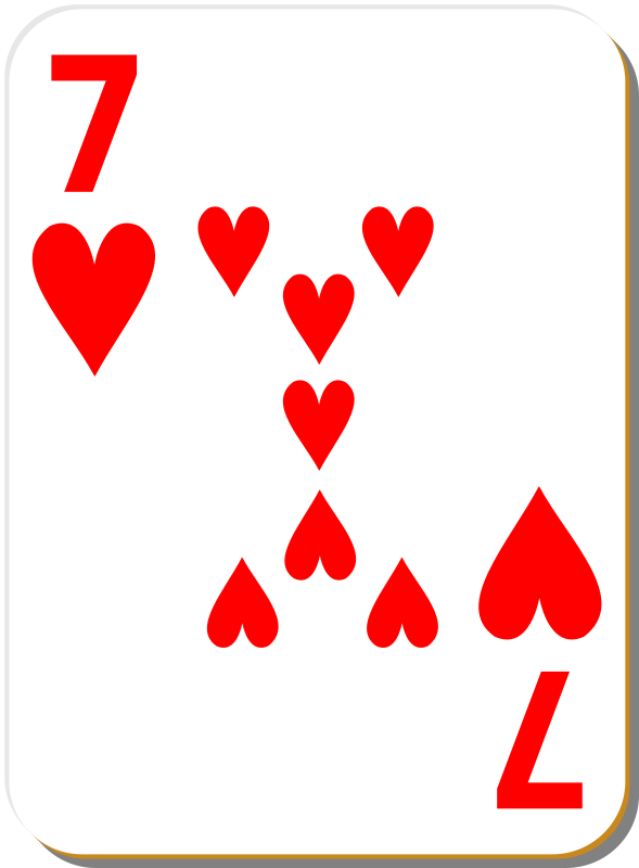 Free White deck: 7 of hearts