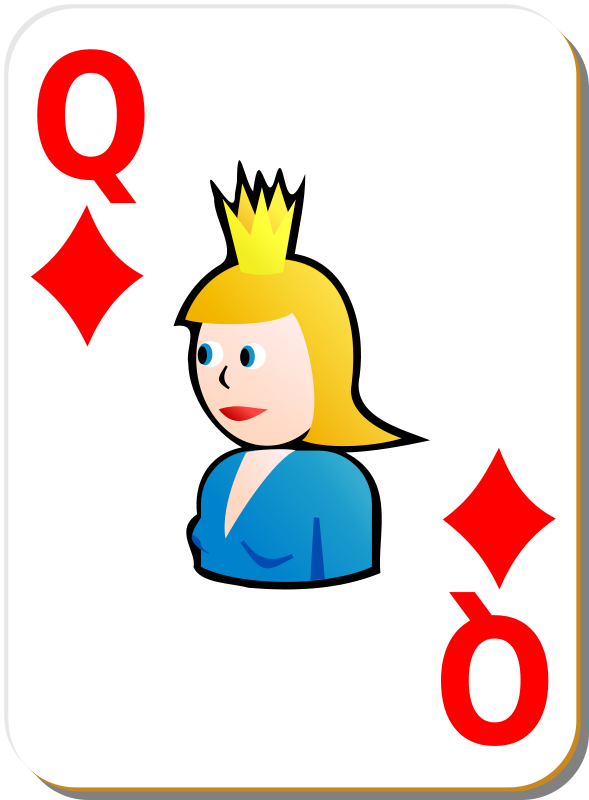 Free White deck: Queen of diamonds