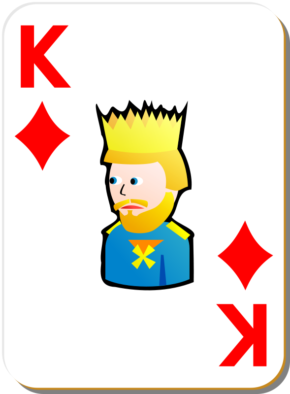 Free White deck: King of diamonds