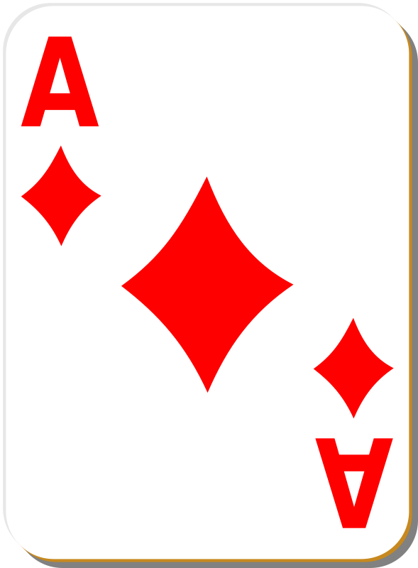 Free White deck: Ace of diamonds