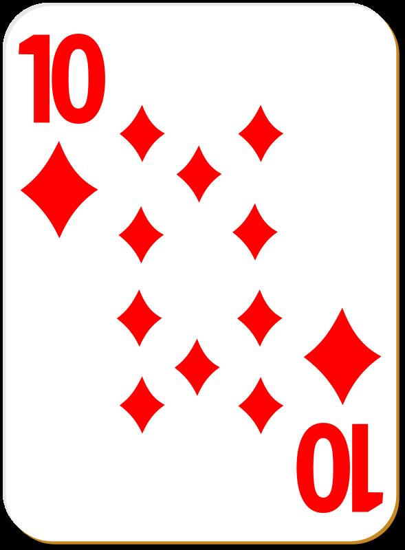 Free White deck: 10 of diamonds