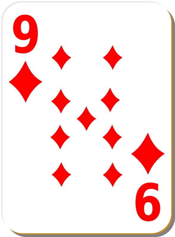 Free White deck: 9 of diamonds