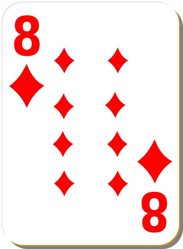 Free White deck: 8 of diamonds