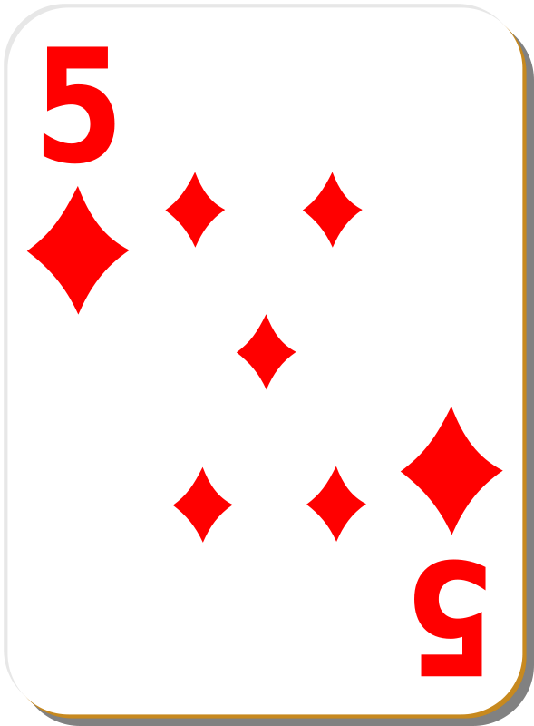 Free White deck: 5 of diamonds
