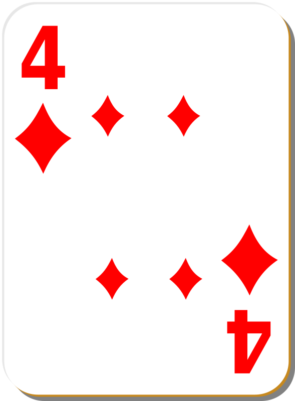 Free White deck: 4 of diamonds