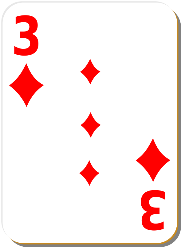Free White deck: 3 of diamonds