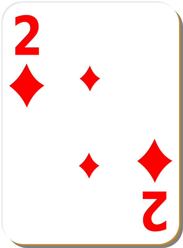 Free White deck: 2 of diamonds