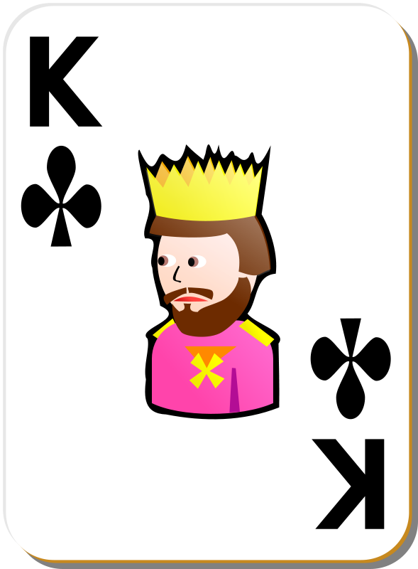 Free White deck: King of clubs