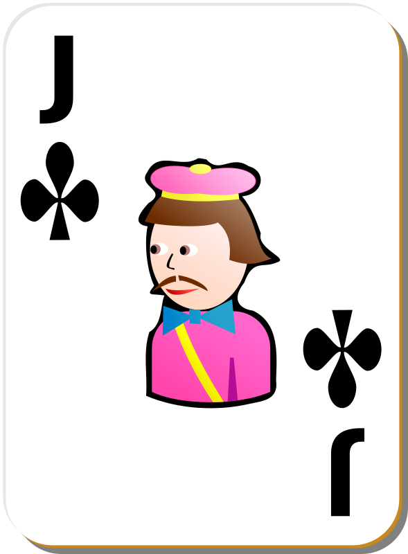 Free White deck: Jack of clubs