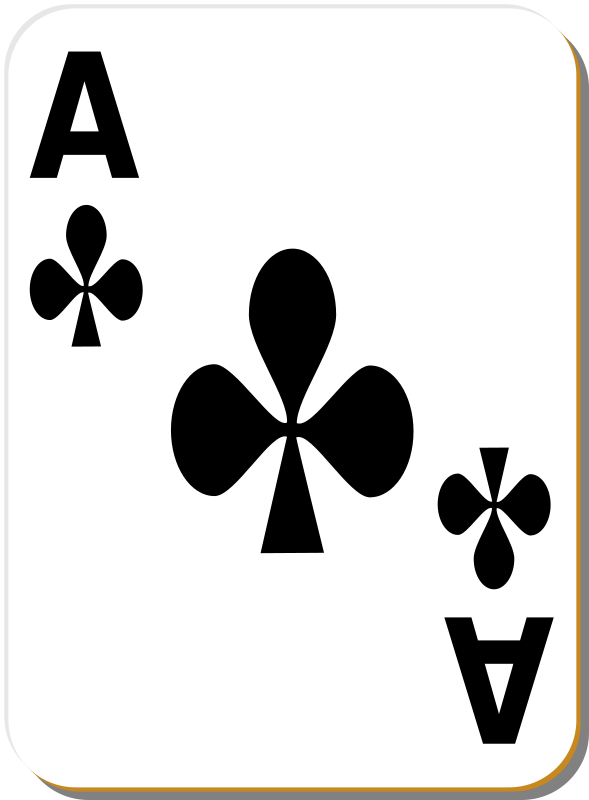 Free White deck: Ace of clubs