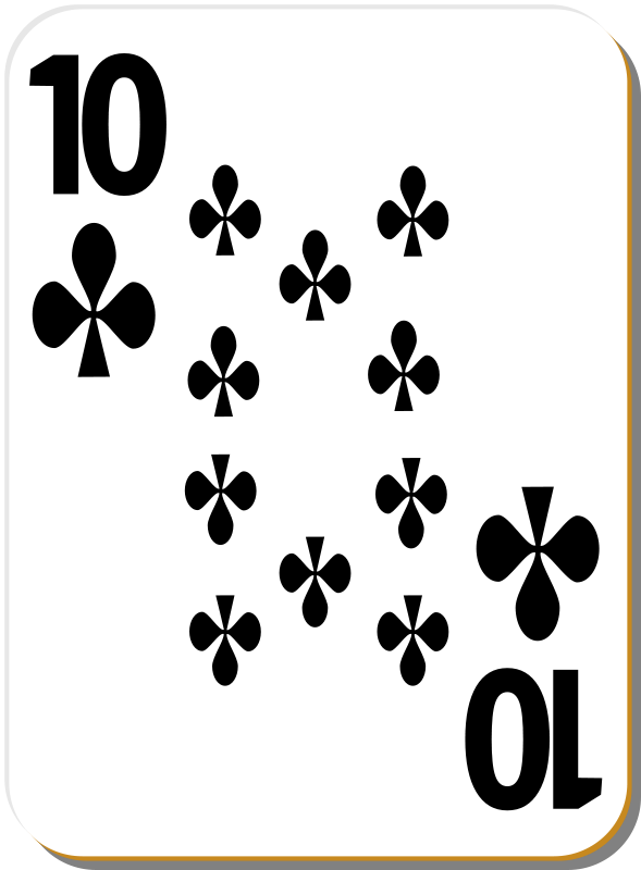 Free White deck: 10 of clubs