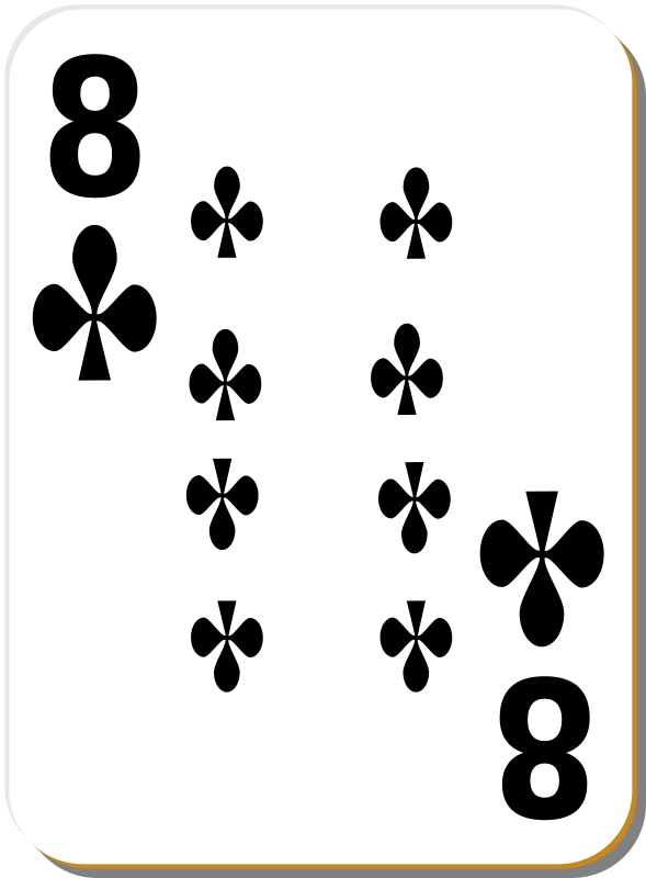 Free White deck: 8 of clubs