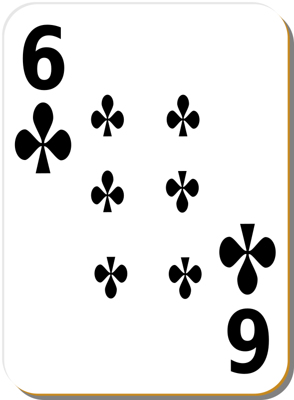 Free White deck: 6 of clubs
