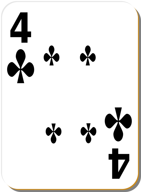 Free White deck: 4 of clubs