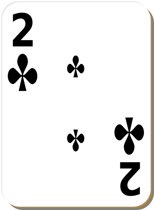 Free White deck: 2 of clubs