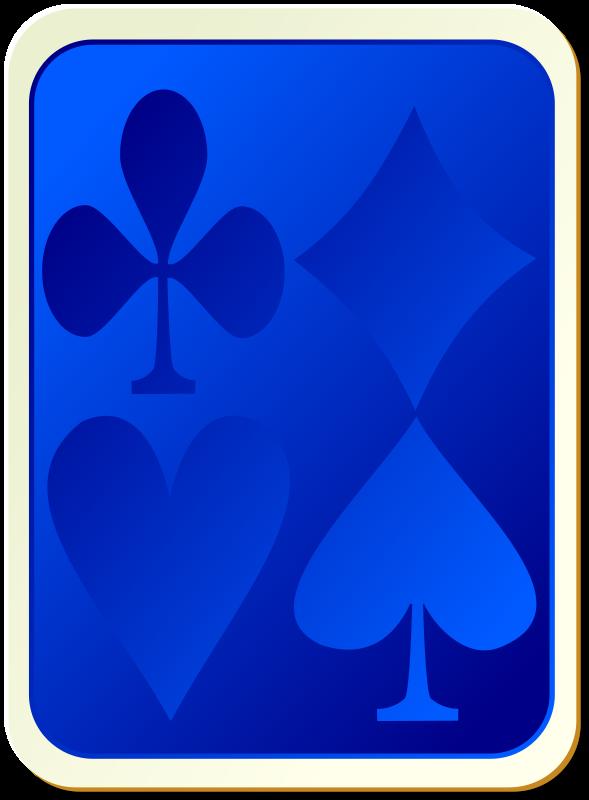 Free Card backs: suits blue