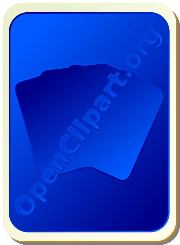 Free Card backs: silhouette blue