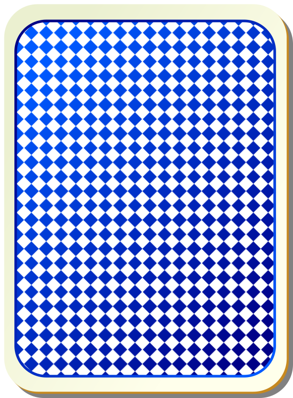 Free Card backs: grid blue
